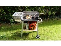 Basic Barbeque - incl. Rotisserie Skewer, Chimney Charcoal Starter, 4xDisposable BBQ, Coals