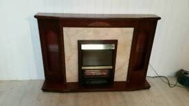 Brown Fireplace