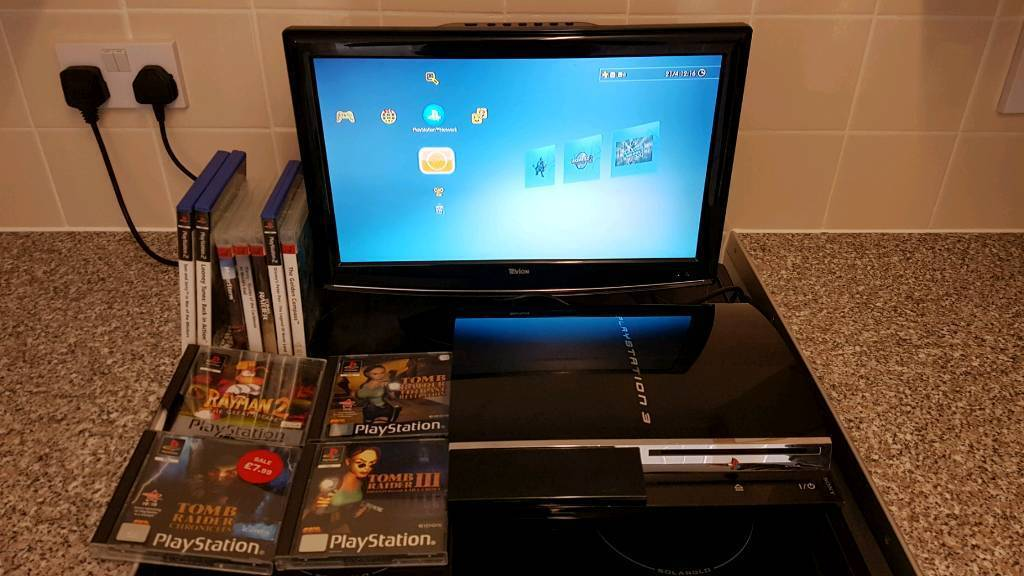 PS3 60G PLAYS PS1 PS2 AND PS3 GAMES THIS COMES WITH TV AND GAMES SHOWN IN PICSin Astley, ManchesterGumtree - Ps3 bundle with tv and games all in excellent condition bargain as this ps3 plays all PlayStation games ps1 ps2 ps3