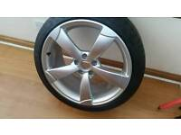 """Genuine Audi TTRS 19"""" Alloy Wheel And Michelin Pilot Tyre As New"""