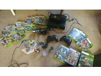 Xbox 360 + 17 games, 2 game pads + kinect