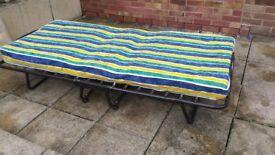 folding single bed for sale. Metal frame