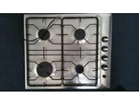 4 ring stainless steel Electrolux Gas hob EHG 673 X Italian Made very good condition