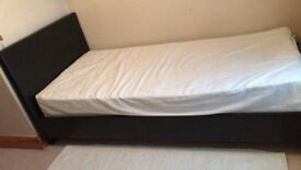 Faux Leather Single bed with/without mattress