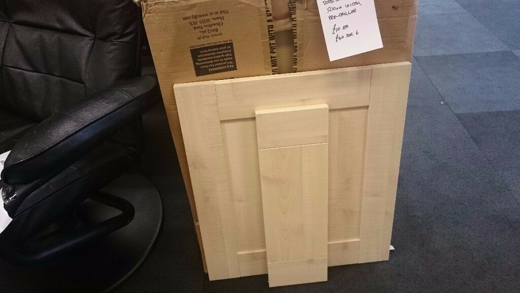 B&Q Maple Style Shaker 500 mm Kitchen Doors