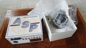 RC aircraft engine .. 4 stroke ASP 52 .. brand new unused inc silencer