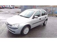 2002 Vauxhall Corsa Club 1.0 Petrol 5 Door 8 Month MOT 73000 Miles Only....