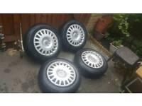 "5x110 Steel Wheels 16"" Almost New Tyres (alloys) Fits Vauxhall Astra Zafira vxr Corsa 5 x 110"