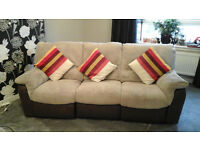 3 & 2 Seater Power Recliner With Storage Pouffe