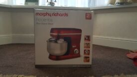 Morphy Richards Accents Red Stand Mixer(New)