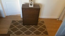 Shoe cabinet and rug for sale