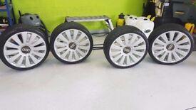 WV Audi 20'' alloys with tyres, 5 x 100 & 5 x 112