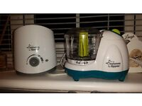 Tommee tippee bottle Warmer and food mixer, baby bath and baby car seat cushion