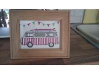 Brand new handmade picture of vw camper