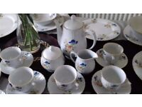 Patterned China Dinner and Tea Set