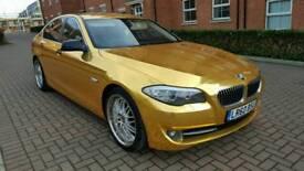 2010 BMW 520D f10 CHROME GOLD HEAD TURNER modified