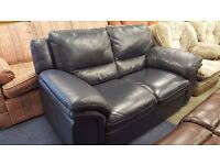 Two Seat Navy Blue Sofa