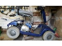 mobility scooter sterling fitted with 90cc petrol engine