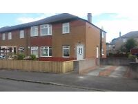 Burnfoot Drive, Cardonald, three bedroom lower cottage flat to let on an unfurnished basis.
