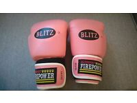 Blitz firepower pink leather boxing gloves - excellent condition