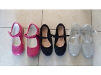 3 pairs of girl shoes size 12-13