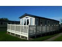 Primrose Valley, Primrose Field, Prestige with decking, 3 bedroomed caravan for hire. 2016 model