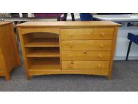 Pine Desk / Dresser 4 Drawers by Julian Bowen Can Deliver