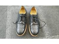 Men's Lyle and Scott black leather brogues