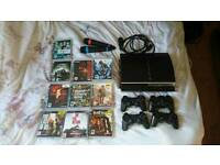 Christmas Bargain! PS3 with 10 GREAT GAMES & 4 controllers for cheap! Pick up only!
