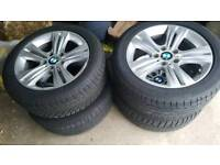 "BMW original 17"" alloys mint with like new tyres"