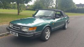 Saab 900 i convertible injection 16 valve, classic saab, comprehensive FSH