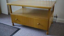 Solid Oak bespoke TV cabinet