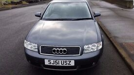 2001 51 AUDI A4 2.0 SPORT ** ONLY 77000 MILES ** ONE OWNER ** SERVICE HISTORY ** MOT NOVEMBER 2017