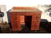 An Antique Victorian Era Small Home Study or Office Computer Desk etc