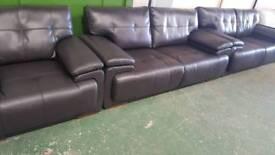Jewel scs endurance brown 4+3+1 seater sofad