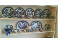 Large collection blue and white