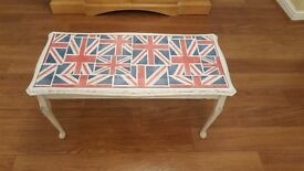 Vintage retro ~ Shabby chic ~ French style glass topped coffee table