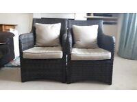 2 Wicker style chairs