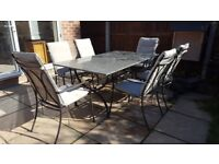 Garden marble table & chairs set