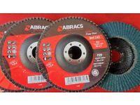 Abracs, grit Z40, 125x22.23mm, Extra flap discs.