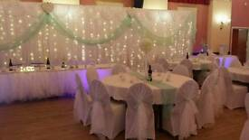 Chair cover decorations