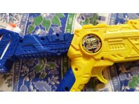Selection of kids nerf and boom dart guns