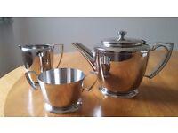 Tableware, Stainless Steel , Old Hall , Tea Pot Milk Jug, Sugar bowl