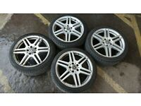 "Alloy wheels with tyres 18"" Mercedes genuine"