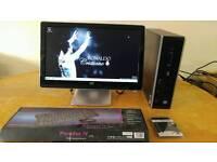 """HP 8100 Elite Business PC Desktop Computer & HP Pavilion Widescreen 21"""""""