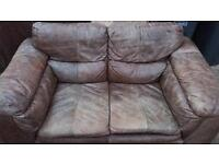 2 2 seater leather sofas
