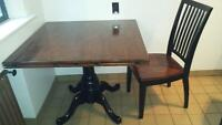 Solid wood dining set $80 obo
