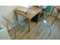 Set of 2 NEARLY NEW Clear dining chairs GORGEOUS!