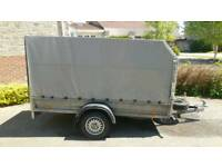 Car/Van galvanised box trailer 2015 273cm x 139cm 9' x 4.5' unbraked 750kg with canopy
