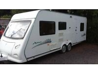 2008 - 6 BERTH ELDDIS TWIN AXLE FAMILY VAN CRIS REGISTERED TWIN BEDROOMS. AWNING. ALL ACCESSORIES.